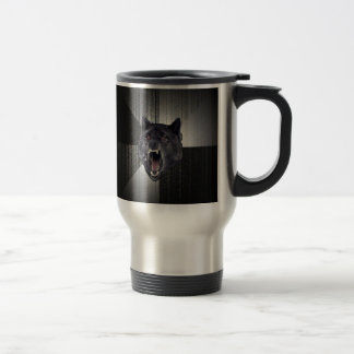 Custom Insanity Wolf Travel Mug