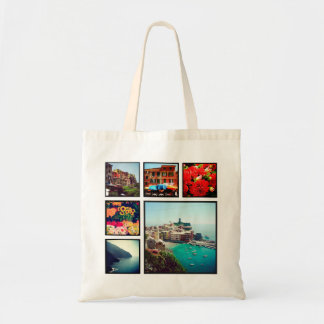 Custom Instagram Photo Collage Budget Tote Bag