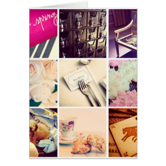 Custom Instagram Photo Collage Greeting Card