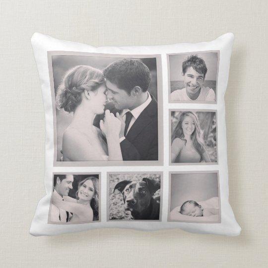 Custom Instagram Photo Collage Cushion