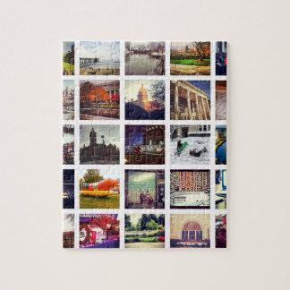 Custom Instagram Photo Collage Jigsaw Puzzle