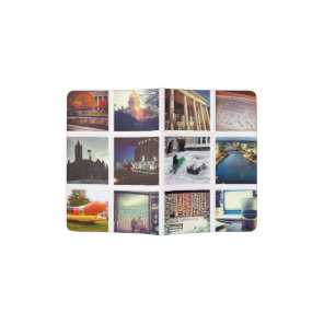 Custom Instagram Photo Collage Passport Holder