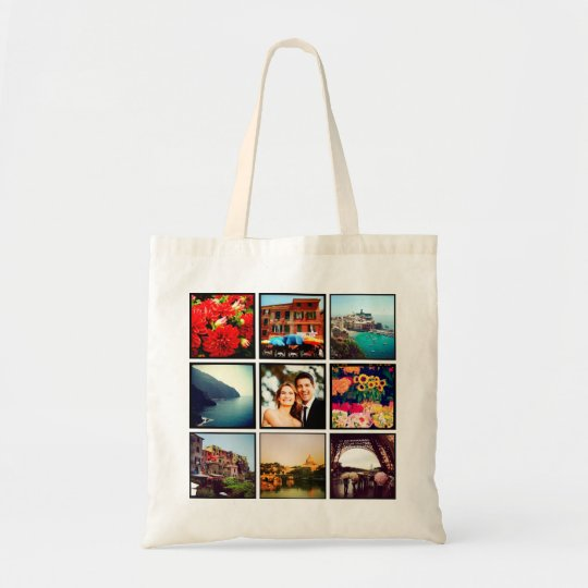 Custom Instagram Photo Collage Personalised Tote