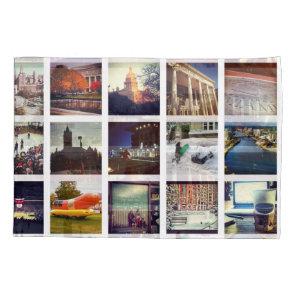 Custom Instagram Photo Collage Pillow Case