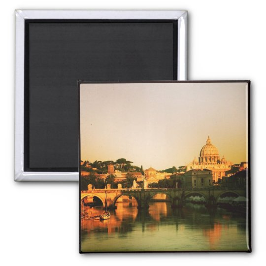 Custom Instagram Travel Photo Keepsake Square Magnet