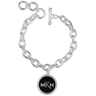 CUSTOM INTIALS CHARM BRACELET FOR BRIDAL PARTY