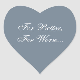 Custom Invite Slate Gray Heart Sticker