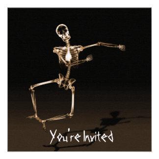 CUSTOM INVITES - X-Ray Skeleton Joy Leap - Orange