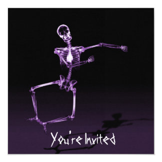 CUSTOM INVITES - X-Ray Skeleton Joy Leap - Purple