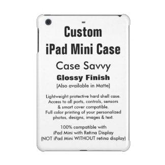 Custom iPad Mini Case Savvy GLOSSY Hard Case
