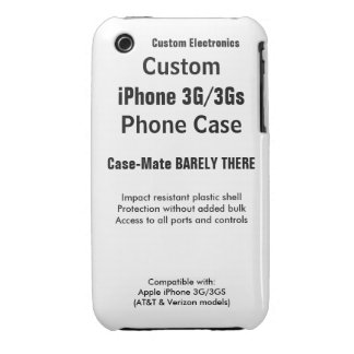 Custom iPhone 3G / 3Gs Barely There Phone Case Case-Mate iPhone 3 Case
