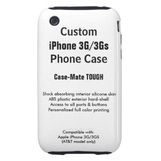 Custom iPhone 3G / 3Gs Tough Phone Case Tough iPhone 3 Cover