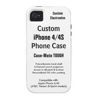 Custom iPhone 4 / 4S Tough Phone Case iPhone 4 Cover