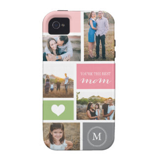 Custom iPhone 4 Mother's Day Photo Collage Case For The iPhone 4