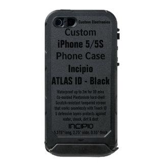 Custom iPhone 5/5S ATLAS ID™ BLACK Waterproof Case Incipio ATLAS ID™ iPhone 5 Case