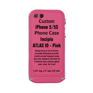 Custom iPhone 5/5S ATLAS ID™ PINK Waterproof Case Incipio ATLAS ID™ iPhone 5 Case