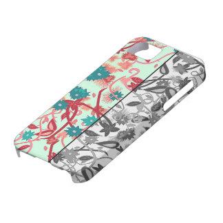 custom iPhone 6 case floral black white & colour