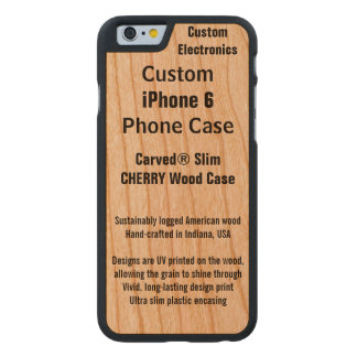 Custom iPhone 6 Cherry Real Wood Phone Case Carved® Cherry iPhone 6 Slim Case