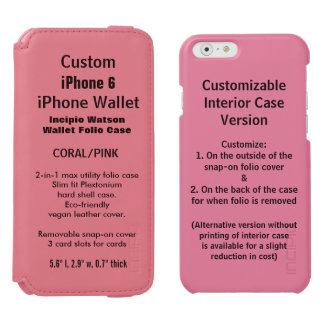 Custom iPhone 6 Watson™ Wallet Folio Case PINK Incipio Watson™ iPhone 6 Wallet Case