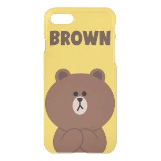 Custom iPhone 7 case Brown bear