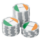 Custom Irish flag poker chips for Ireland