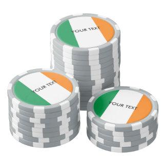 Custom Irish flag poker chips for Ireland