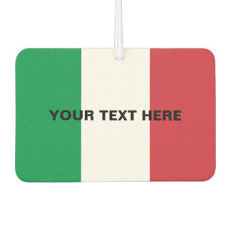 Custom Italian flag car air freshener
