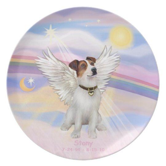 CUSTOM - Jack Russell Terrier Angel STONY Plate