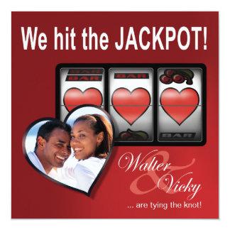 Custom Jackpot Las Vegas Save the Date Card