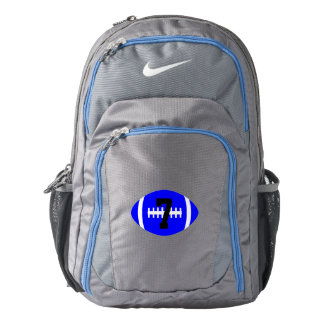 Custom Jersey Number Blue Nike Football Player Bag
