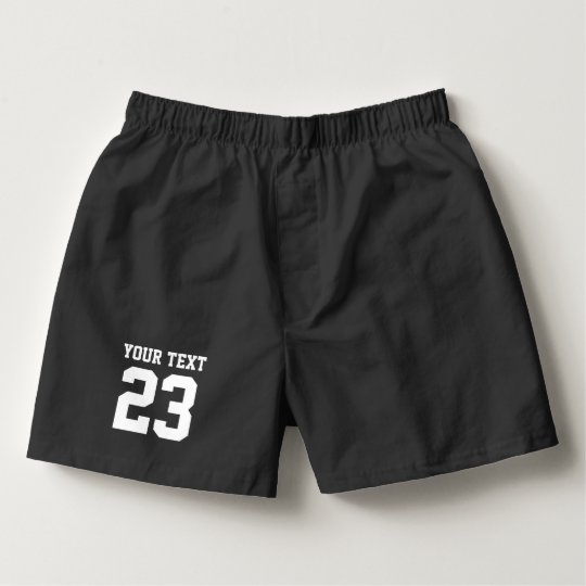 Custom jersey number mens boxer shorts and briefs