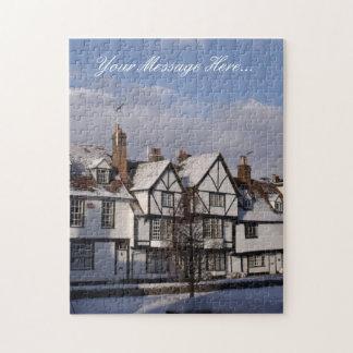 Custom Jigsaw Puzzle - Winter Houses Snow Scene