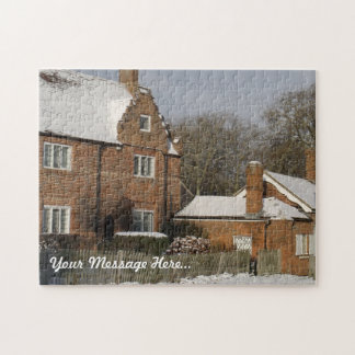 Custom Jigsaw Puzzle - Winter Village Snow Scene