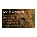 Custom Jos 1:9 Scripture Personal Business Cards