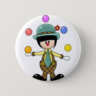 Custom Juggling Clown 6 Cm Round Badge