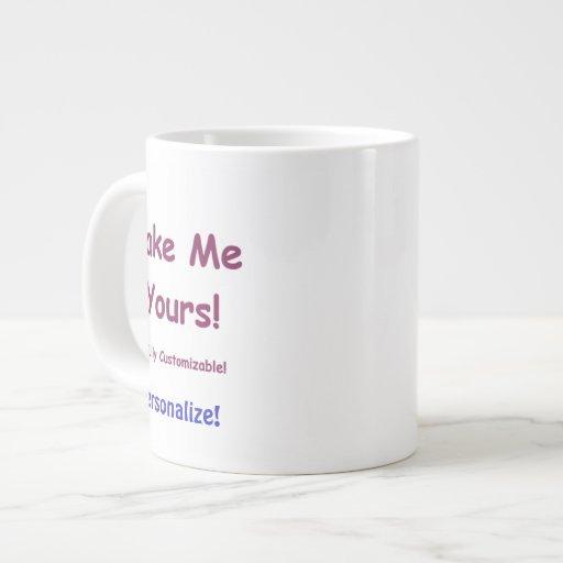 Custom Jumbo Ceramic Mug to Personalize 20oz Extra Large Mug
