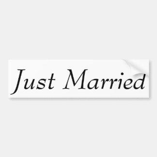 "Custom ""Just Married"" Bumper Sticker 11"" x 3"""