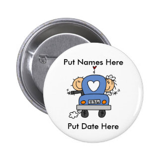 Custom Just Married Wedding Button