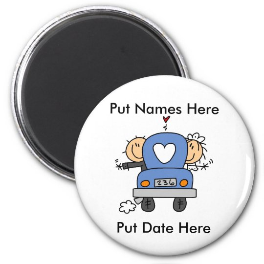 Custom Just Married Wedding Magnet