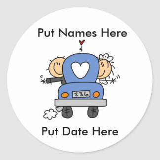 Custom Just Married Wedding Stickers