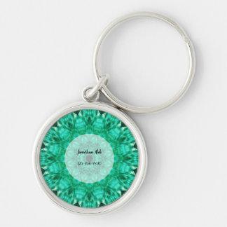 Custom Kaleidoscopic Mandala Key Ring