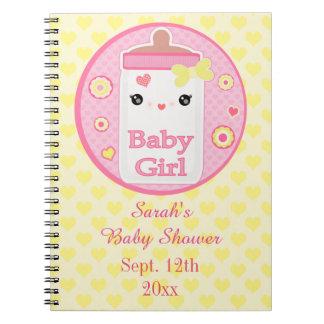 Custom Kawaii Baby Shower Guest Book Notebook