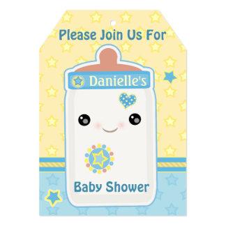 Custom Kawaii Bottle Baby Boy Shower Invitations