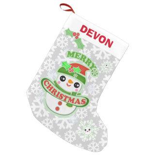 Custom Kawaii Snowman Christmas Stocking