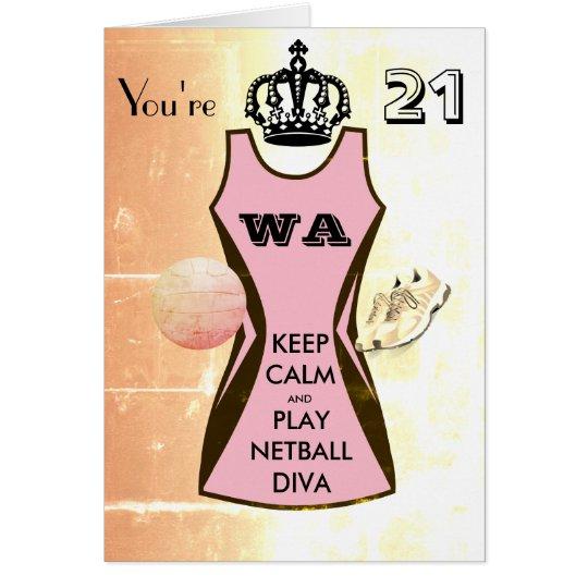 Custom Keep Calm and Play Netball 21st Birthday