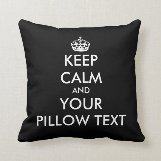 Custom Keep calm and your text dorm throw