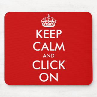 Custom Keep Calm Mousepad | Customizable template