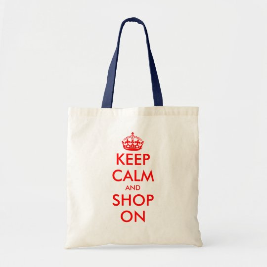 Custom Keep Calm tote bag | Customisable template