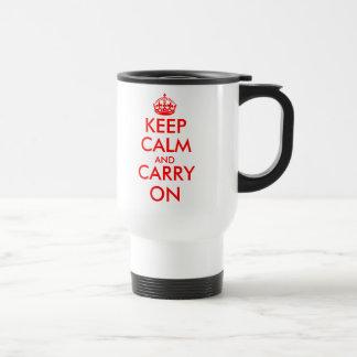Custom Keep Calm Travel Mug | Customizable text