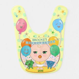 Custom Keepsake Baby's First Birthday Bib